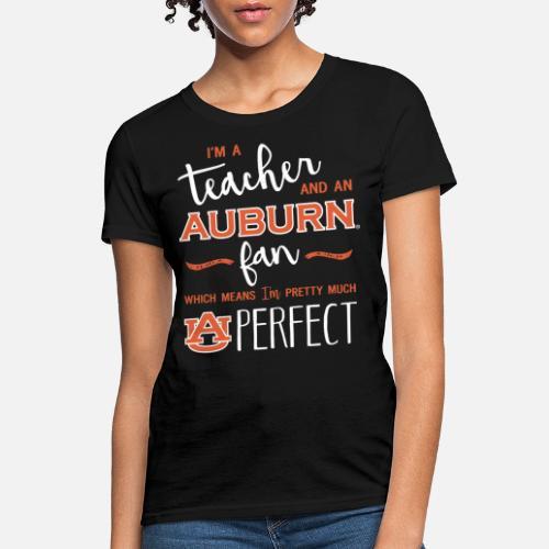 Women S T Shirti M A Teacher And An Auburn Fan Which Mean I Pre