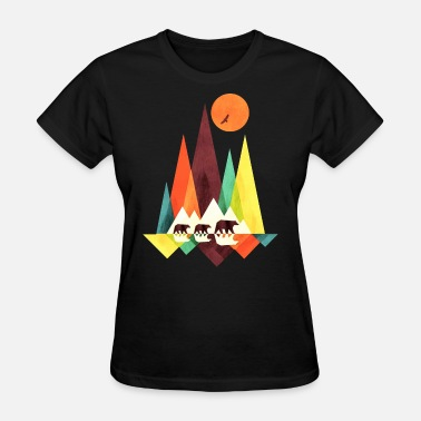 Red Store not sold in stores moon moutain colors yellow red - Women's T-Shirt