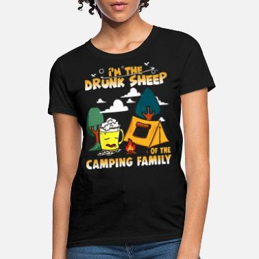 Camping i am drunk sheep of the camping family camp - Women's T-Shirt