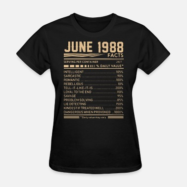 june 1988 facts weed t shirts - Women's T-Shirt