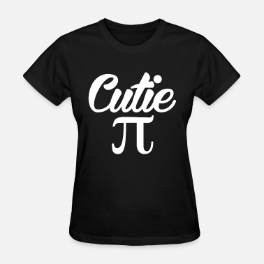 Gangsta Fitness Threadrock Girls Cutie Pi Fitted Pi Day Math Nerd - Women's T-Shirt