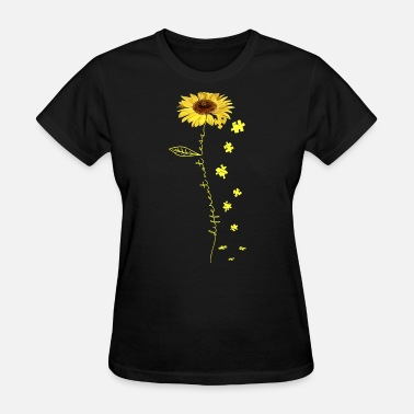 Sunflower SUNFLOWER ART different not less yelow flower auti - Women's T-Shirt
