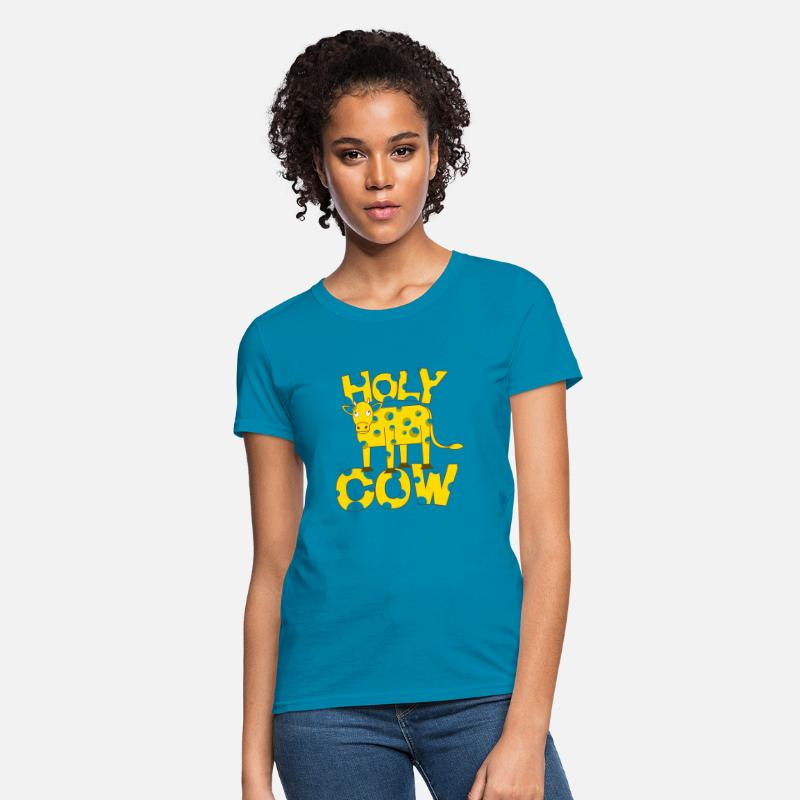 d12825d45 Holy Cow Swiss Cheese Funny Cattle Joke Picture Women's T-Shirt |  Spreadshirt