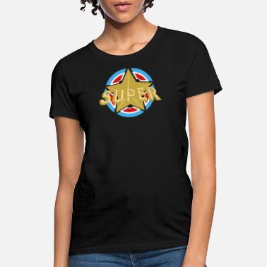 Super Star Superstar Super Star Superstar Shield Stars Large Grand - Women's T-Shirt
