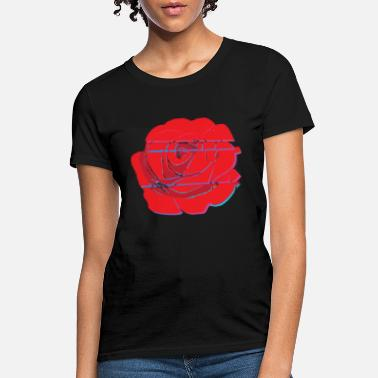 Gypsy Psychedelic Shirt Glitch Rose Flower Rave Trip - Women's T-Shirt