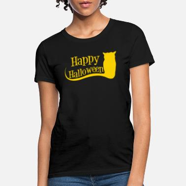 Happy Halloween Costume with Witch's Cat - Women's T-Shirt