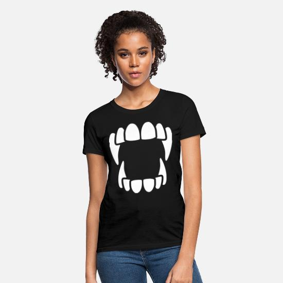 Fangs T-Shirts - Sharp Fangs - Women's T-Shirt black
