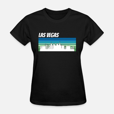 Retro Vegas Retro Las Vegas Skyline - Women's T-Shirt