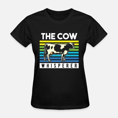 Cow And Calf Black Cow Bull Black White - Women's T-Shirt