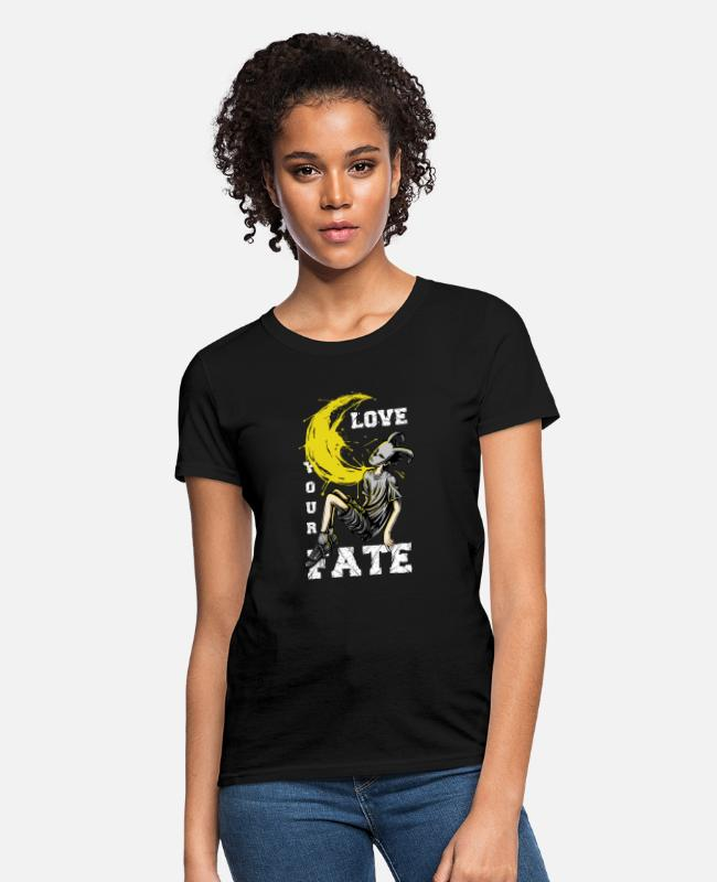 Love With Heart T-Shirts - love your fate - Women's T-Shirt black