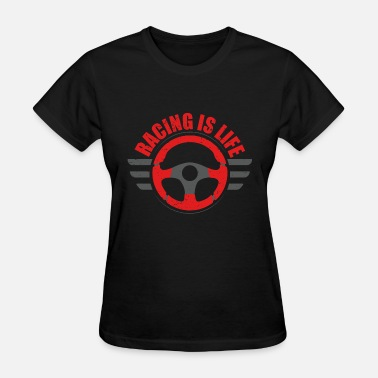 Car Wheel Car Tuning Steering Wheel - Women's T-Shirt