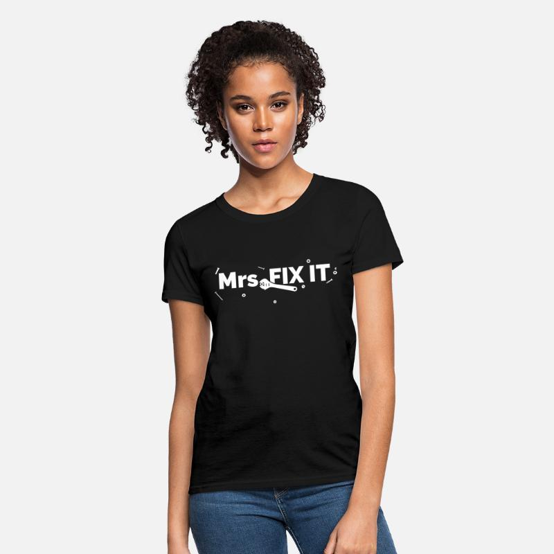 Diy T-Shirts - Mrs FIX IT - Women's T-Shirt black