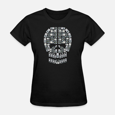 Death Disc Skull Dj Equipment | Music Instruments Discjockey - Women's T-Shirt