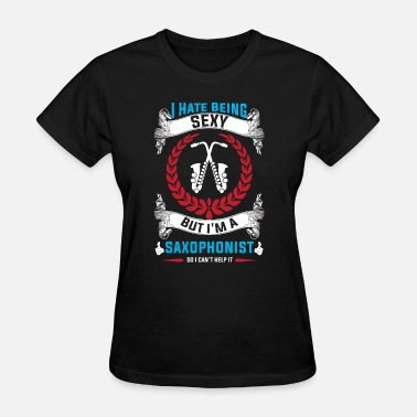Baritone-sax--a Marching Band Saxophonists Saxophone Player Gift - Women's T-Shirt