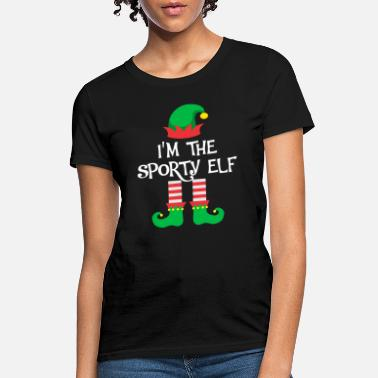 Sporty I m The Sporty Elf Matching Family Group Christmas - Women's T-Shirt