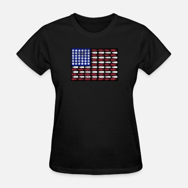 American Craft Beer Patriotic beer bottle american flag holiday shirt - Women's T-Shirt