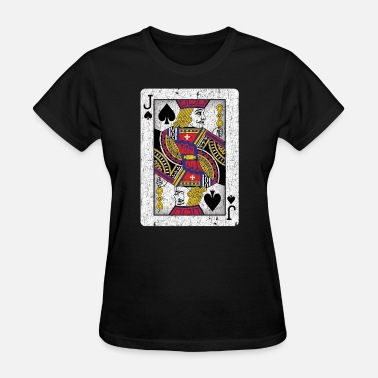 Jacked Cards jack of spades playing card - Women's T-Shirt