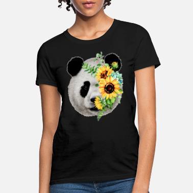 12de7d40 panda flower lovely cartoon farm my best friend - Women's T-. Women's T- Shirt