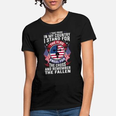 c199917587eef Shop Stand For The Flag Kneel For The Cross T-Shirts online ...