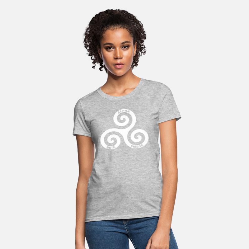 Wolf Logo Symbol Alpha Beta Omega Tumblr for WOMEN Women's T-Shirt -  heather gray