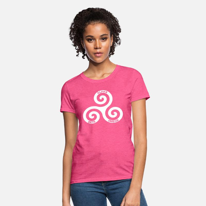 Wolf Logo Symbol Alpha Beta Omega Tumblr for WOMEN Women's T-Shirt -  heather pink