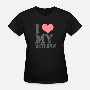 Veteran Love Lovely veteran wife - I love my veteran - Women's T-Shirt