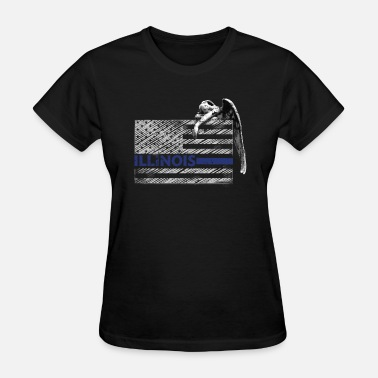 Guardian Angel Symbol Illinois Police State Police Guardian Angel - Women's T-Shirt