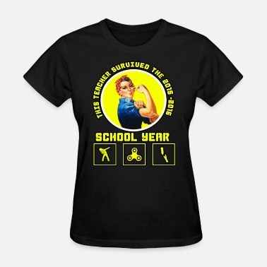 this teacher survived the 2015-2016 schoolyear - Women's T-Shirt