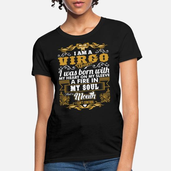 I/'m I Was Born My Standard Unisex T-shirt Im A Virgo Girl With Heart On Sleeve