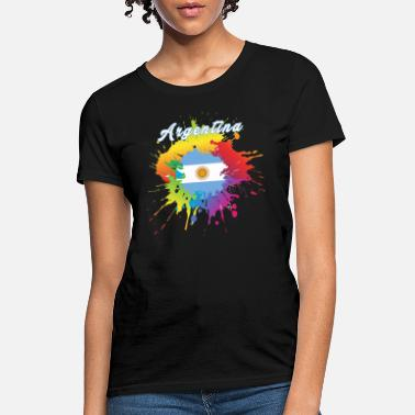 Argentina Flag Gay Pride Colorful Splash - Women's T-Shirt