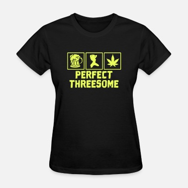 Animal Sex Insults Adult Humor Novelty Graphic Sarcasm Funny T Shirt Perfect threesome - Women's T-Shirt
