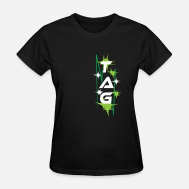 No Tags Funny Funny Laser Tag Party TShirt Mode On Tag - Women's T-Shirt