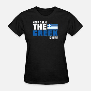 Greece Crete Keep calm Greece / Athens Gift Crete Flag - Women's T-Shirt