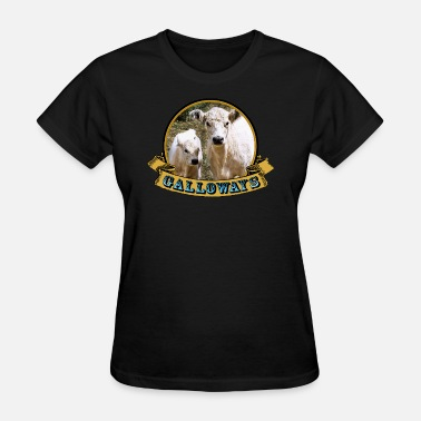 Cattle Calf galloways cow and calf - Women's T-Shirt