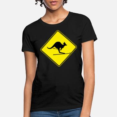 australien road sign ski kangaroo - Women's T-Shirt