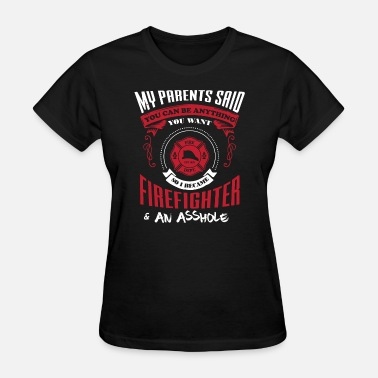 Firefighters Kids Firefighter Kid parents work gift - Women's T-Shirt