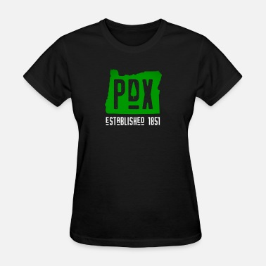 Pdx Carpet Green PDX Portland Tree 1851 Novelty Gift - Women's T-Shirt