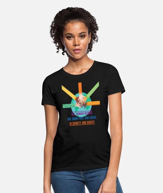 Human T-Shirts - Human Rights - All human beings are born free and - Women's T-Shirt black