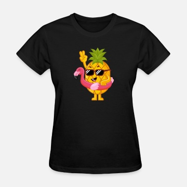 Pink Pineapple Pineapple in a Flamingo Float | Pink | School - Women's T-Shirt