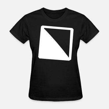 Diagonal Diagonally filled square - Women's T-Shirt