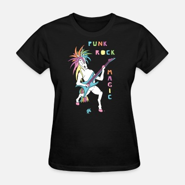 Unicorns Rock Punk Rock Magic Unicorn - Women's T-Shirt