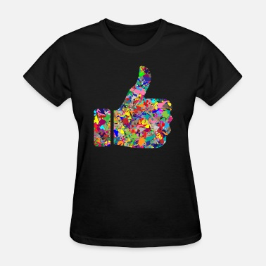 Gay Thumbs Rainbow Thumbs Up - Women's T-Shirt