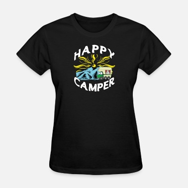 Camper Christmas Glamping Camper Happy Camper - Women's T-Shirt