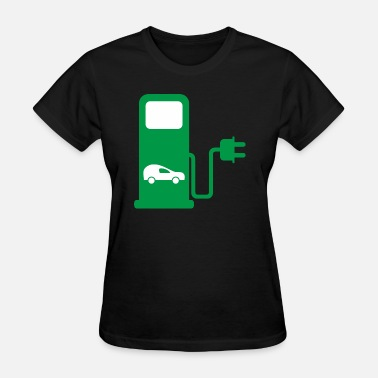 Filling Station benzin gas tankstelle petrol station oil productio - Women's T-Shirt