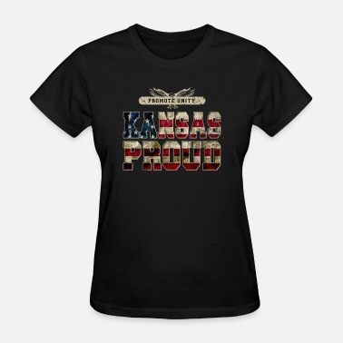 Unity Apparel Kansas Proud Promote Unity Proud Strong Awesome Design Gift - Women's T-Shirt