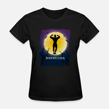 Bodybuilding Apparel Bodybuilding Halloween Vintage Art Bodybuilder - Women's T-Shirt