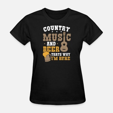 90s Rock Music 90s Country Music And Beer Gift - Women's T-Shirt