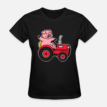 Trecker Tractor Shirt Farmer Gift Trecker Cool Farmer - Women's T-Shirt