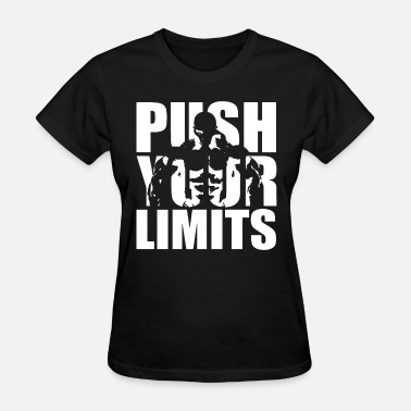 Mens Bodybuilding Push Your Limits Gym Training Wo - Women's T-Shirt
