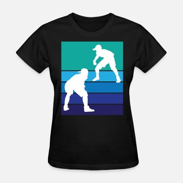 Sumo Vintage Wrestling Graphic T-Shirt - Two Wrestlers - Women's T-Shirt
